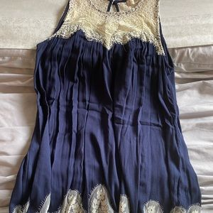 Altar'd State Short Navy Lace Dress